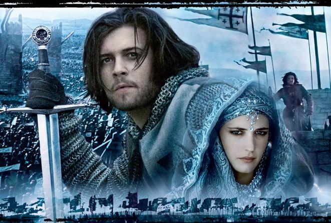 Обои черный актер меч орландо блум черно царство небесное kingdom of heaven, 1024x768, царство